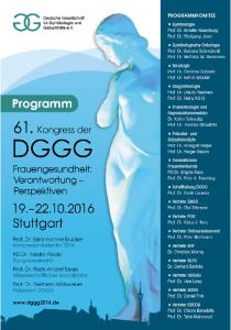 Kongress der DGGG - Programm